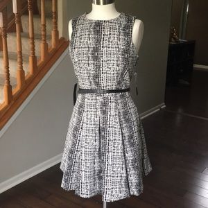 Black and White Cocktail Dress - With Pockets!